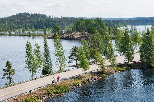 Radfahren auf der Finnischen Seenplatte