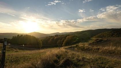 Sonnenuntergang auf dem Panorama Wanderweg