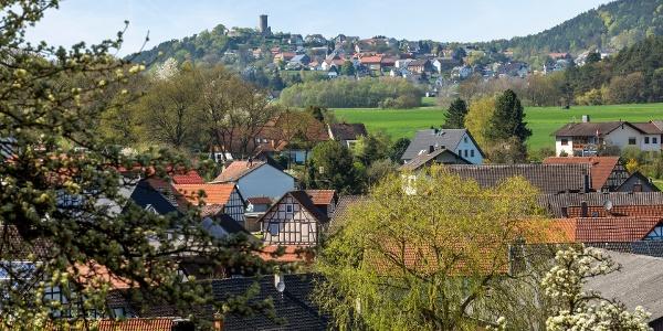 Oberrosphe und Burg Mellnau