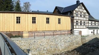 Brettmühle Mulda - Gebäudeansicht Muldenseite
