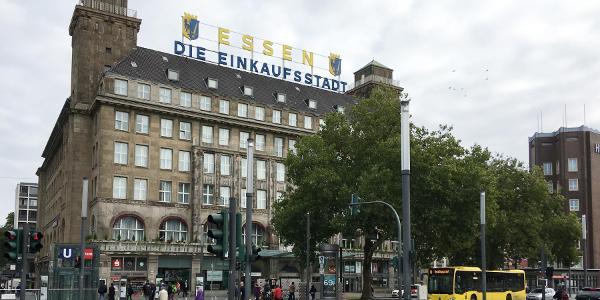Eingang zur Essener Fußgängerzone