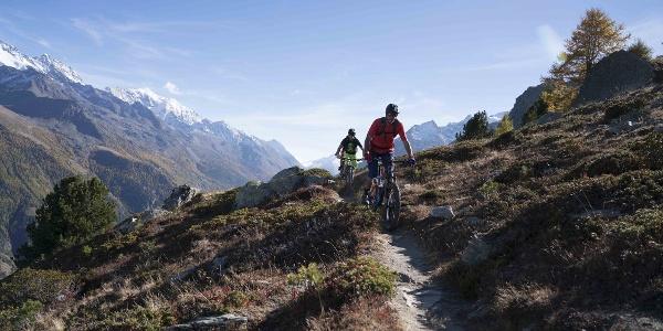 3 Mountainbiker auf dem Hannigweg
