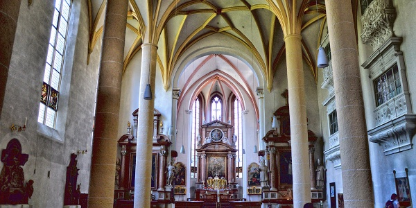 <![CDATA[Der Innenraum der Stiftskirche Berchtesgaden]]>