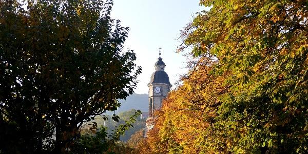 A nagymarosi Szent Kereszt felmagasztalása-templom tornya