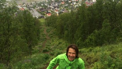 Uphill zum Start - wenn man die Seilbahn nich nehmen möchten