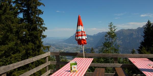 Zeit für eine Pause auf der Alp Schwarzbüel