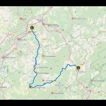 48 km, 360°-Video, Bahntrasse Hermeskeil n. Ruwer (Ortsteil v.Trier)