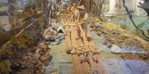 Modellfloß im Flößermuseum Schiltach