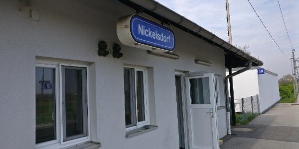 Start am Bahnhof Nickelsdorf