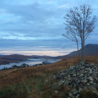 Sunrise Above Loch Tulla in Inveroran