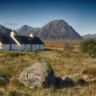 Black Rock Cottages and Buachaille Etive Mor