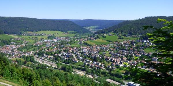 Blick auf Baiersbronn vom Stöckerkopf