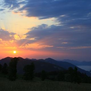 Sonnenaufgang, gesehen vom Oberdörferberg.