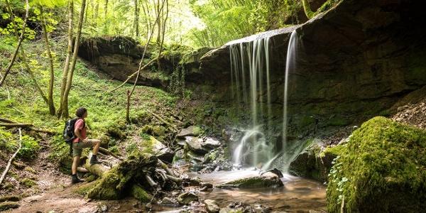 Kleiner Wasserfall im Butzerbachtal