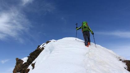 Am Gipfel der Lazaunspitze