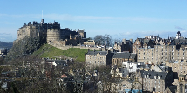 Edinburgh Castle seen from the National Museum