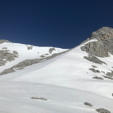 Blick zum Gipfelhang