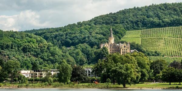 Blick auf Bad Hönningen mit Schloss Arenfels