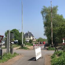 Bahnschranke am Bf Ochtendung