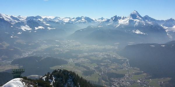 Blick vom Gipfel zum Watzmann