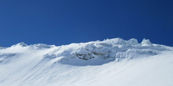 Gletscherbruch rechts umgehen