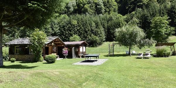 Aussicht Alpenherz Garten