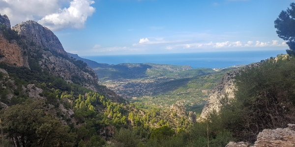 Views of Soller as you zig zag down to the valley floor