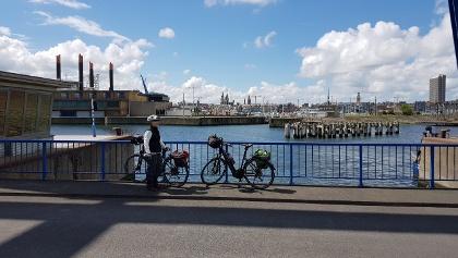 Blick vom Hafen nach Ostende