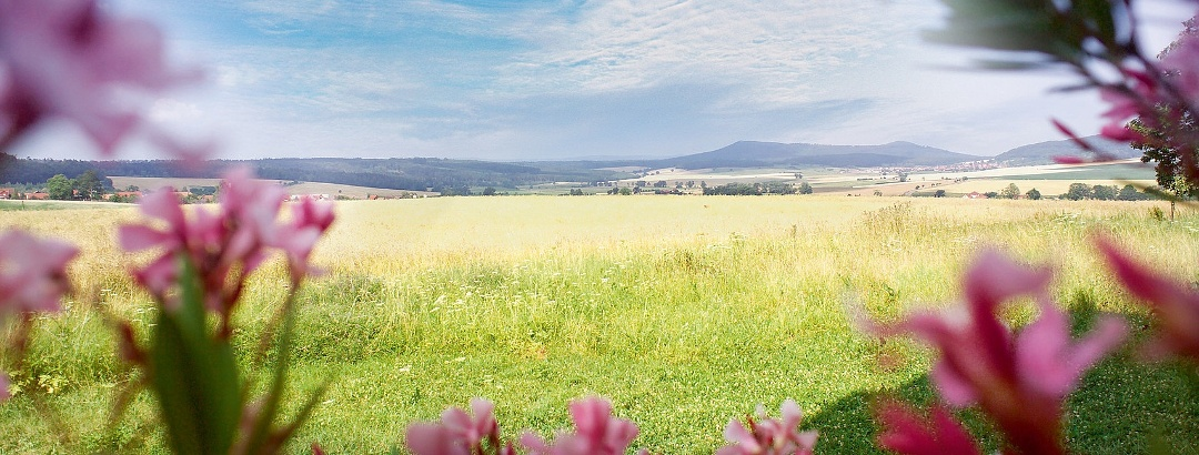 Picturesque view over the Rhön Mountains