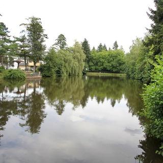 Der große Teich unterhalb der Gartenstadt Wenscht