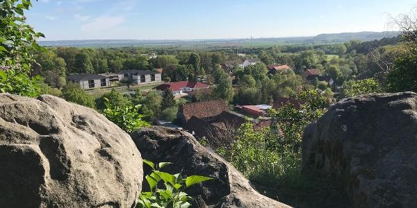 Altenburg Blick auf Langenstein und Halberstadt