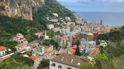 View to Amalfi from Pogerola Descent