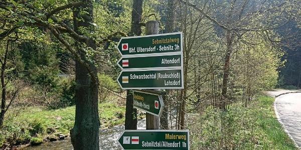 Wegweiser nach Altendorf