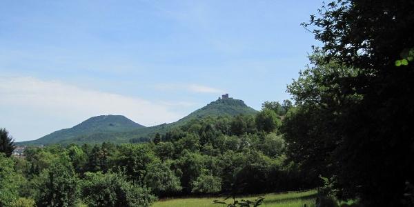 Pälzer Keschdeweg Etappe 1 Ausblick auf Burg Trifels