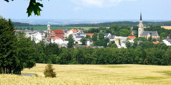 Blick auf Falkenstein mit Kirche