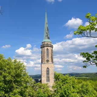 Kirchturm der Falkensteiner Kirche