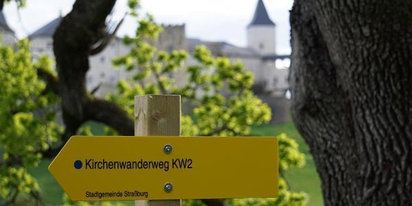 Wanderschild Kirchenwanderweg KW2