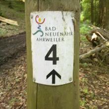 Markierung Wanderweg Nr. 4