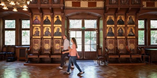 Fürstliches Residenzschloß Detmold - Innenaufnahme Saal