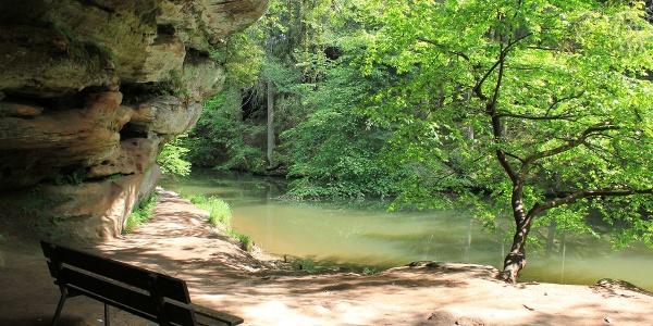 Die Gustav-Adolf-Höhle in der Schwarzachklamm