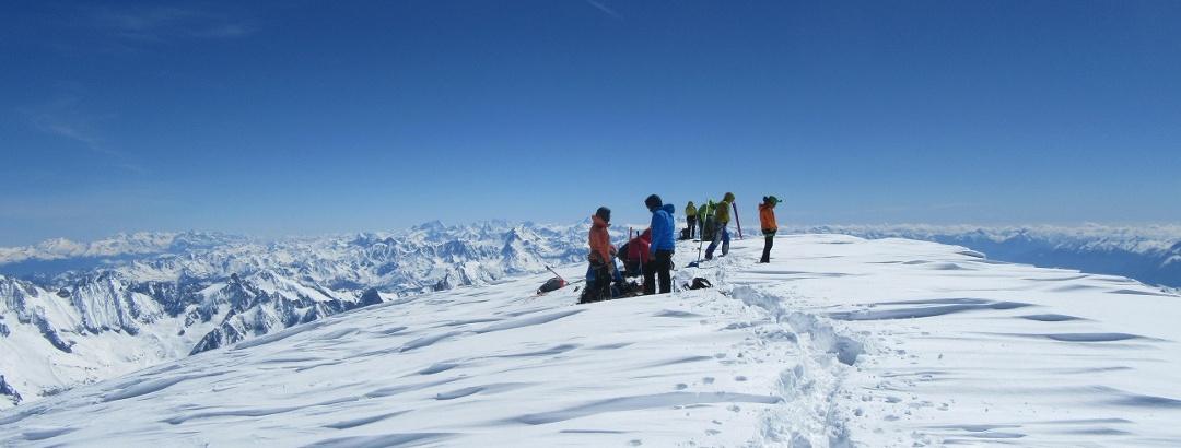 Auf dem Gipfel des Mont Blanc