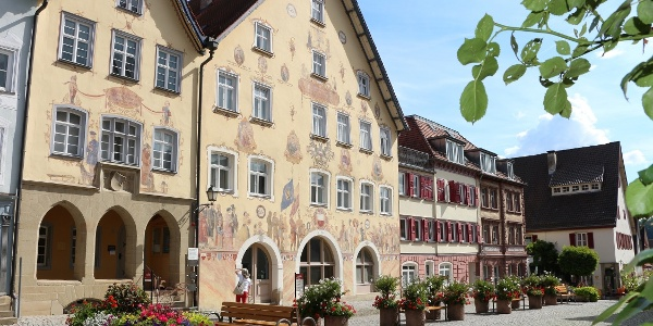 Historischer Marktplatz in der Altstadt Horb am Neckar