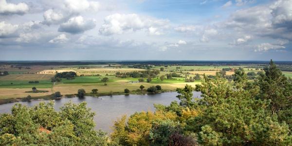 Ausblick vom Aussichtsturm Höhbeck