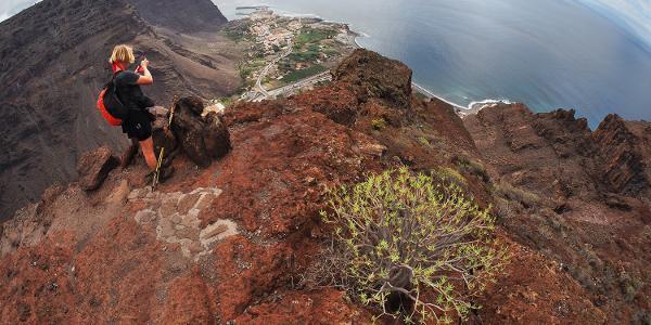 Valle Gran Rey: Camino la Mérica: Ausblick zur Küste