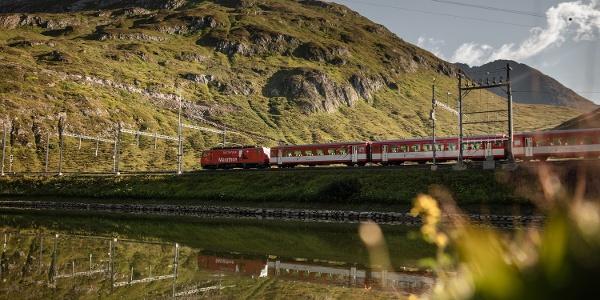 Matterhorn Gotthard Bahn am Oberalppass