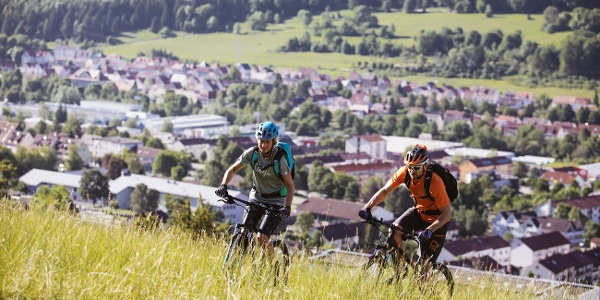 Uphill am Campingplatz