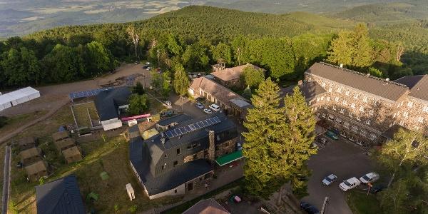 A Galyatető Turistacentrum a levegőből