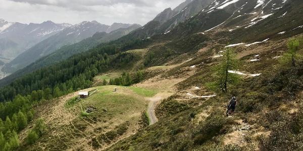 Schiebepassage zwischen Forstweg und Ottenspitzhütte