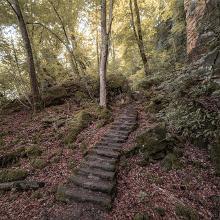 Ein paar der zahlreichen Stufen
