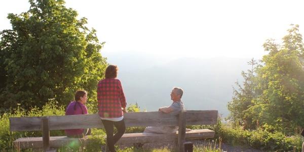 Entspannen und die Aussicht geniessen bei der Oberstolehütte